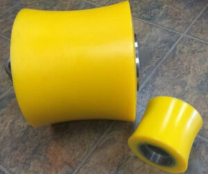 pipe cradle rollers-polyurethane rollers