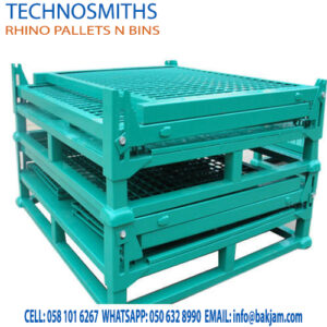 foldable pallets-GALVANIZED STACKABLE STEEL PALLET CONVERTERS-post pallets- FOR COLD STORES