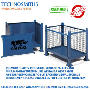 GALVANIZED STACKABLE STEEL PALLET CONVERTERS FOR COLD STORES IN RIYADH-1-tonne-detachable-side-mesh-or-steel-pallets