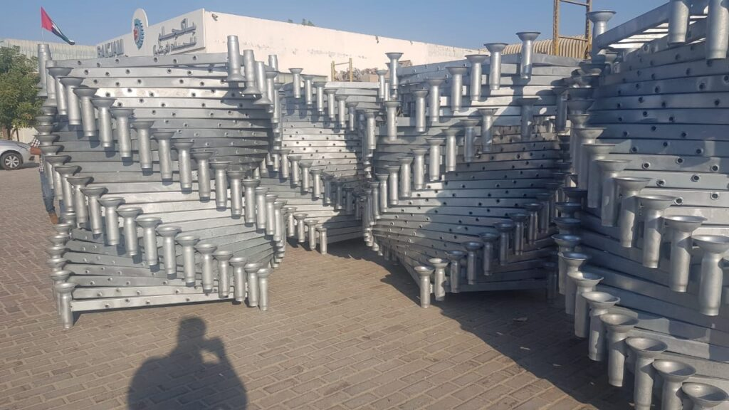 GALVANIZED STACKABLE STEEL PALLET CONVERTERS-post pallets- FOR COLD STORES